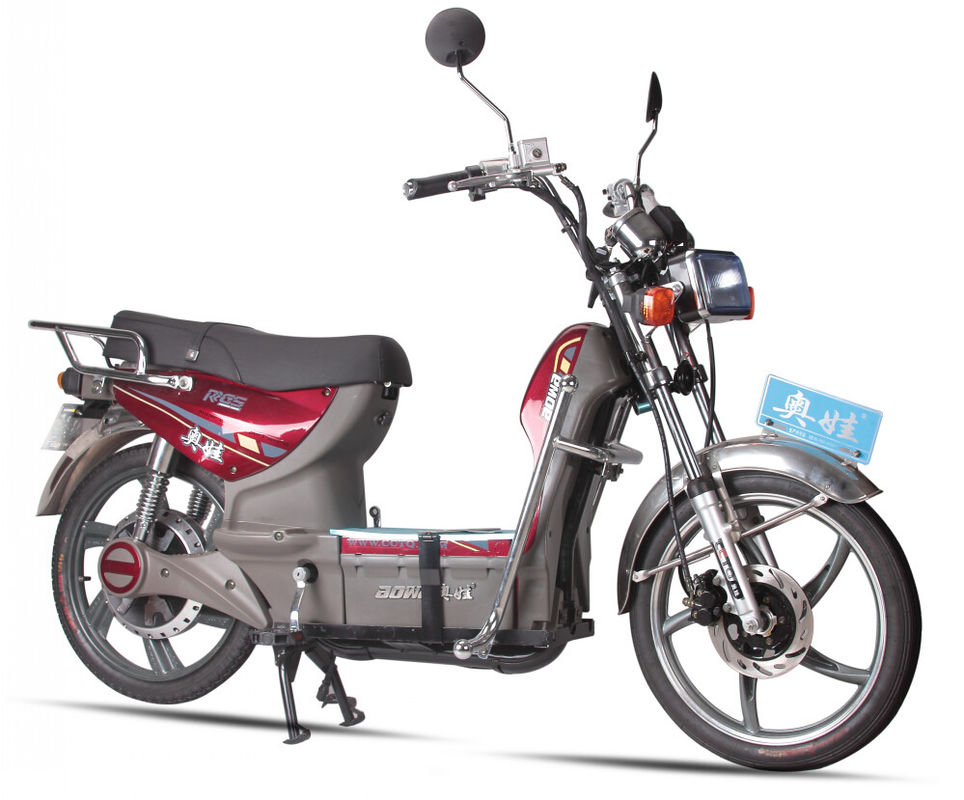 Mens Powerful Coolest AOWA Electric Bikes Light Red Electric Pedal Bikes